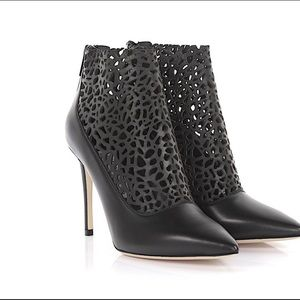 🔥NIB Jimmy Choo Leather Pointed Toe Ankle Boots